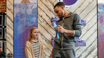young girl who wrote letter to steph curry helps design curry 6's for international women's day