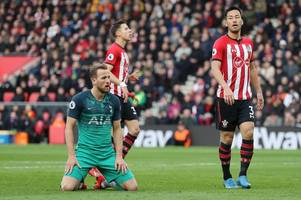 tottenham stunned at southampton, newcastle stage comeback to beat everton