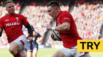 six nations 2019: josh adams scores the first try for wales against scotland