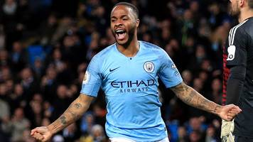 sterling scores hat-trick as man city beat watford to go four points clear