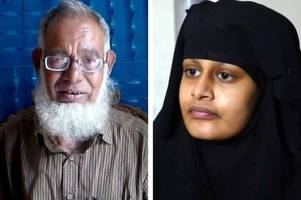 isis bride shamima begum's dad asks uk to 'forgive her' as muslim leader urges for her to be taken in