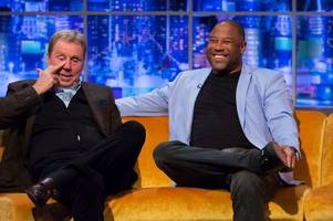 heartbreaking moment harry redknapp cries on jonathan ross show over wife sandra sepsis fears