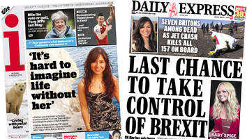 The Papers: Crunch Brexit vote and plane crash tributes