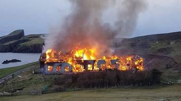 vow to rebuild fire-hit fair isle bird observatory in shetland