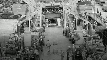 footage emerges of soldiers leaving for d-day from cornwall