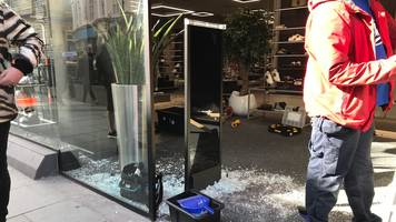 leicester's flannels outlet ram-raiders steal clothes