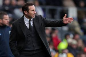frank lampard reveals derby county's focus approaching the international break