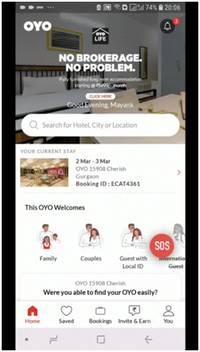 oyo launches industry first in-app sos button