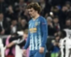 'everyone is f***ed up and i feel guilty' - griezmann frustrated by performance in loss to juve