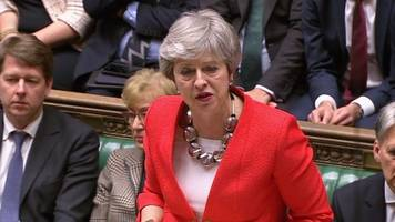 Brexit vote: Theresa May says she 'profoundly regrets' MPs' decision