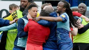 wycombe and sunderland charged by football association after melee