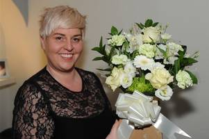 wishaw charity champion mary wins say it with flowers competition