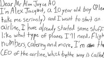boy's letter to qantas boss for 'ceo advice' goes viral