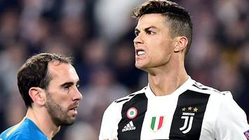 ronaldo hat-trick against atletico sends juve through