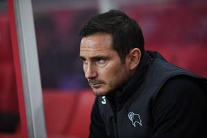 derby county team news v stoke city - frank lampard names his xi