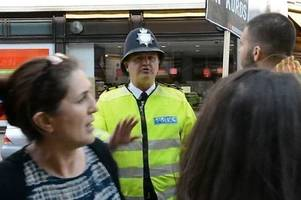 officer marcus tyson dismissed from met police over 'racist comment' at march