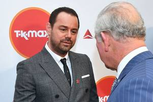 danny dyer greets his 'cousin charlie' the prince of wales and goes 'straight up his nut'