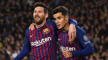 messi inspires five-goal barca to win over lyon