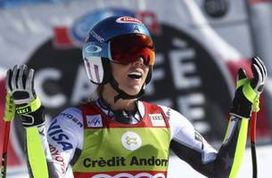 Shiffrin wins World Cup super-G title for 10th career globe