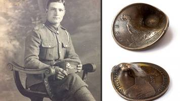 pocket penny which saved soldier's life to be sold