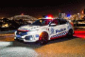 honda civic type r earns its stripes, joins australian police force