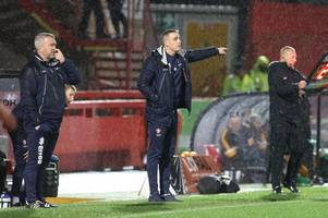 there are lots of things that need tidying up here, from right at the top, down to the bottom - every word of cheltenham town manager michael duff's interview ahead of newport county afc away