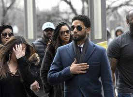 jussie smollett pleads not guilty to 16 felony counts for allegedly lying about a hate-crime attack
