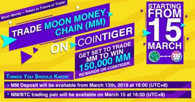 moonx to list moon money chain (mm) on cointiger on 15th march