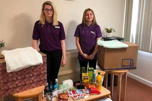 apprentices collect for the homeless in sinfin