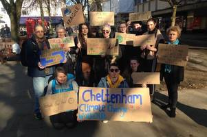 School pupils 'spat at and had objects thrown at them' during climate change protest in Cheltenham