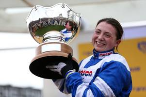 the brilliant way bryony frost celebrated her cheltenham festival success on frodon