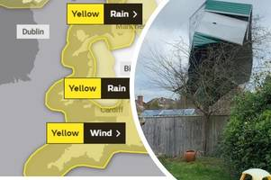 uk weather: snow, rain and wind warnings in place as 'storm hannah approaches