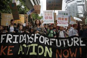 thousands of young students around the world stage walkouts over climate change