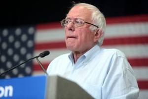 what happened to bernie sanders' head in south carolina?