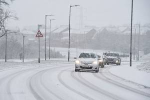 weather warning for east kilbride as the town prepares for storm hannah snow blast