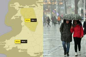 the met office forecast as storm 'hannah' is set to bring 70pmh winds, four inches of rain and horrendous weather to wales
