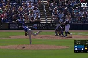 highlights: padres put up 10 on the royals in spring win