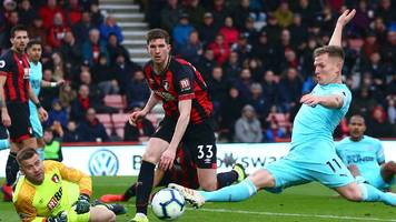 bournemouth 2-2 newcastle: matt ritchie volley rescues point for magpies.
