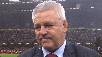 Six Nations: Warren Gatland 'proud of players' as Wales create history