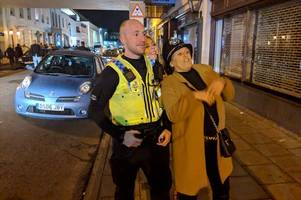 Gold Cup night in Cheltenham - everything we saw as police make two arrests