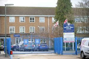 injured george abbot pupil back at school after 'stabbing'