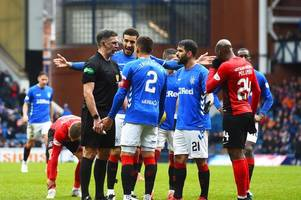 rangers' rivals rack up astonishing number of yellow cards in just four games