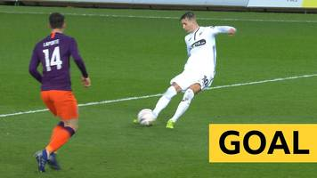 fa cup: bersant celina doubles swansea's lead against man city