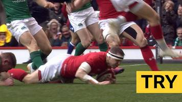 six nations 2019: hadleigh parkes scores early try to give wales lead over ireland