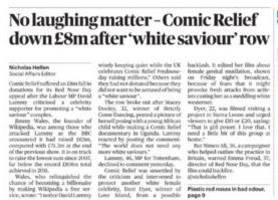 Comic Relief: David Lammy shamed whites into not giving