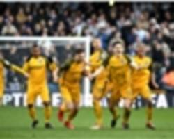 millwall 2 brighton and hove albion 2 (aet, 4-5 on penalties): seagulls win shoot-out after late comeback