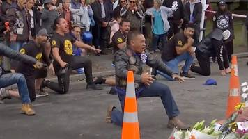 christchurch shootings: flowers and haka