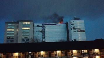 fire in empty swansea city centre tower block
