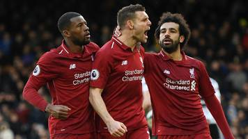 fulham 1-2 liverpool: james milner's penalty sends reds top after scare