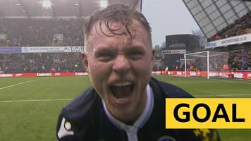 fa cup: aiden o'brien taps in millwall's second goal against brighton